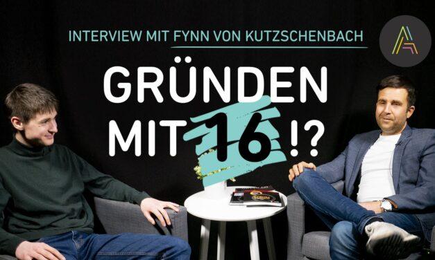 Fynn von Kutzschenbach: Jungunternehmer mit 16 Jahren