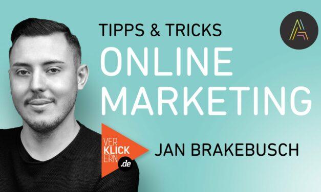 Jan Brakebusch (Verklickern.de) über Agilität im Online Marketing