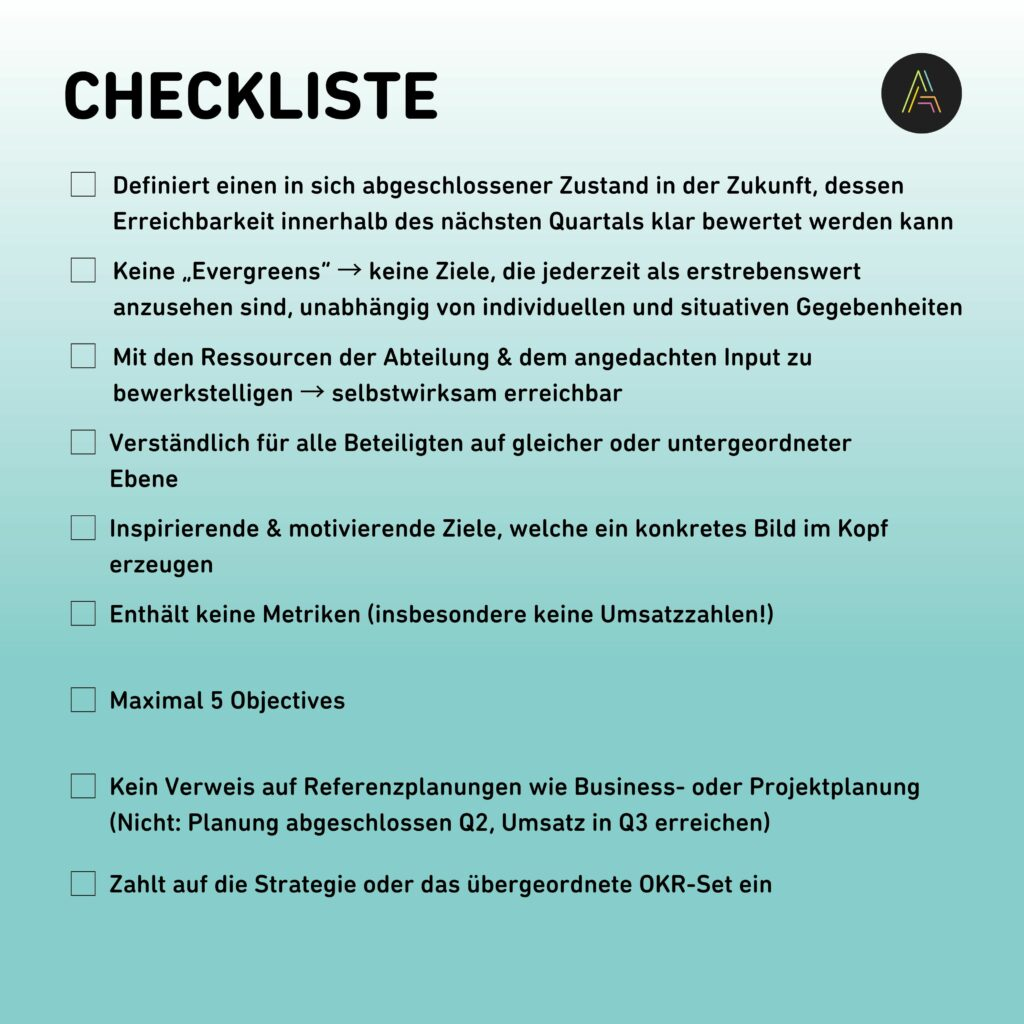 okr-objective-checkliste